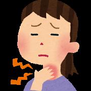 喉が痛い人